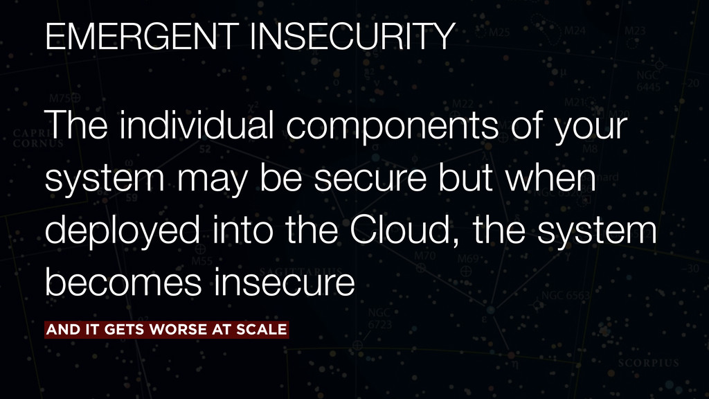 EMERGENT INSECURITY The individual components o...