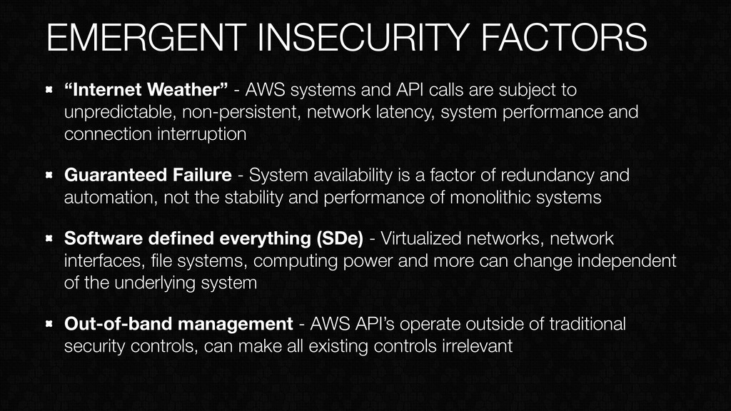 "EMERGENT INSECURITY FACTORS ""Internet Weather"" ..."