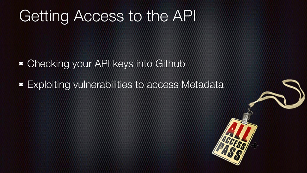Getting Access to the API Checking your API key...