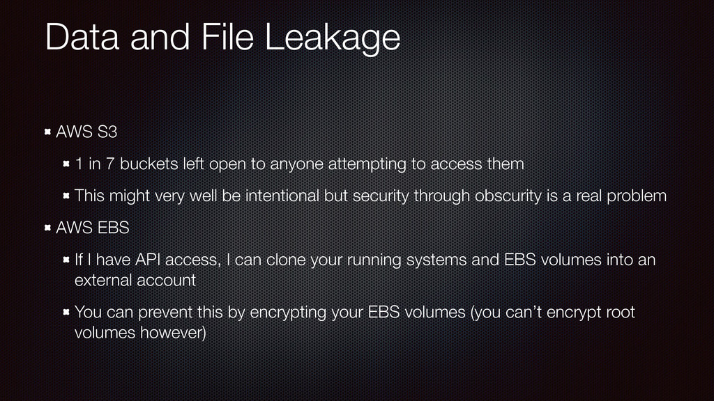 Data and File Leakage AWS S3 1 in 7 buckets lef...