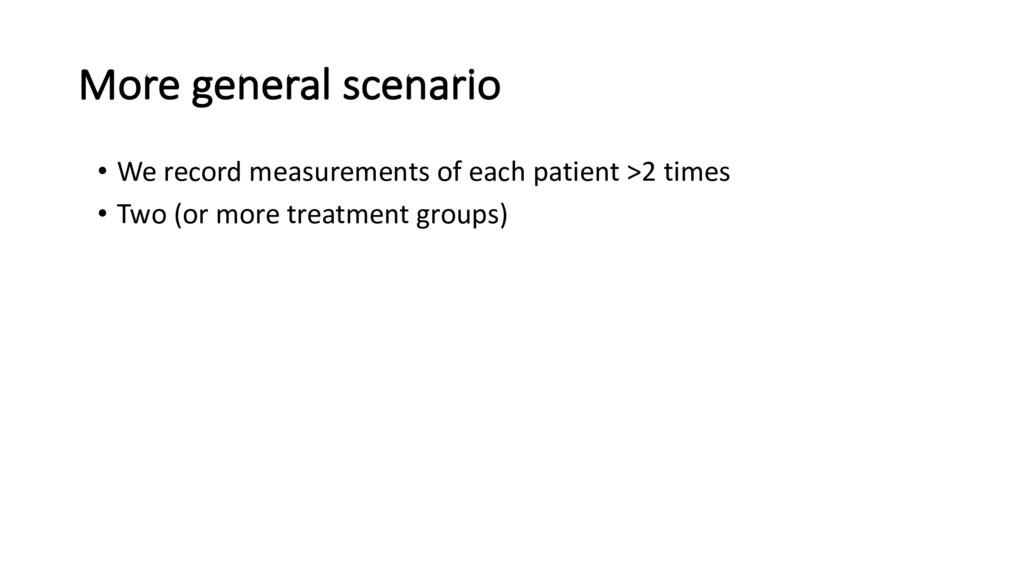 More general scenario • We record measurements ...