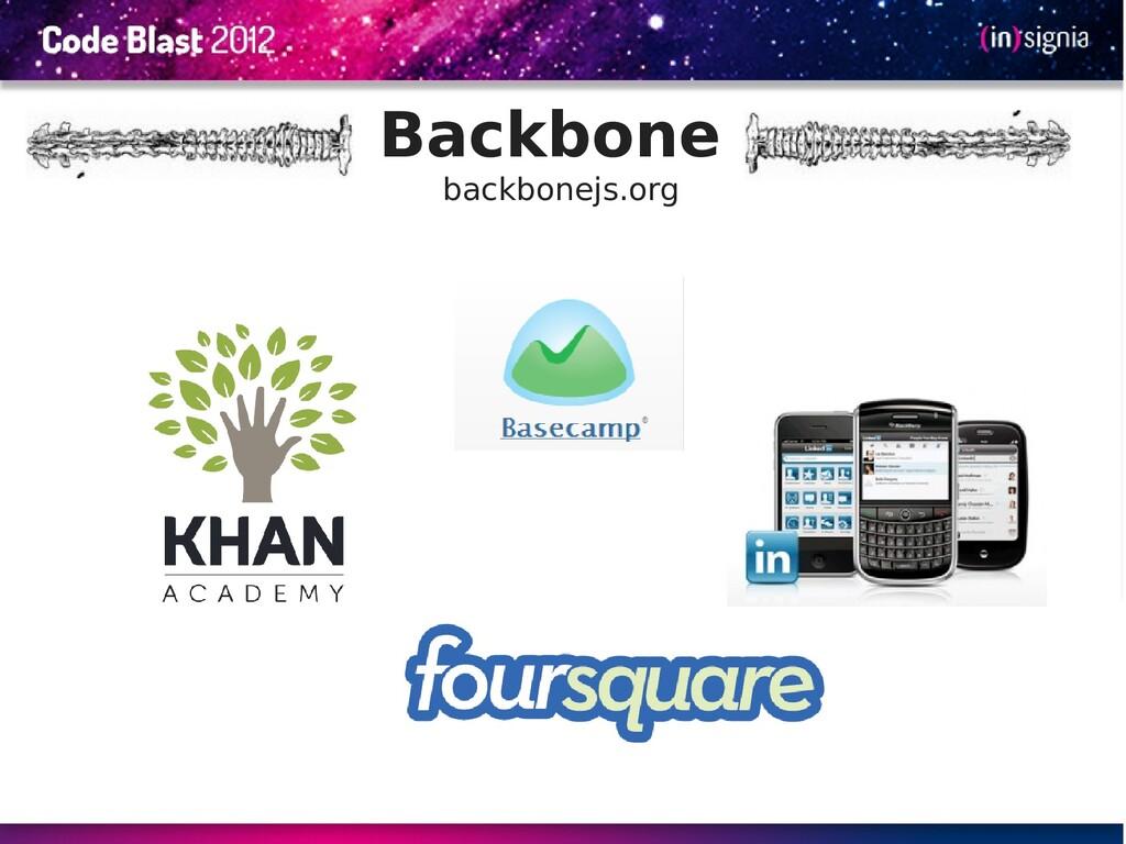 Backbone backbonejs.org