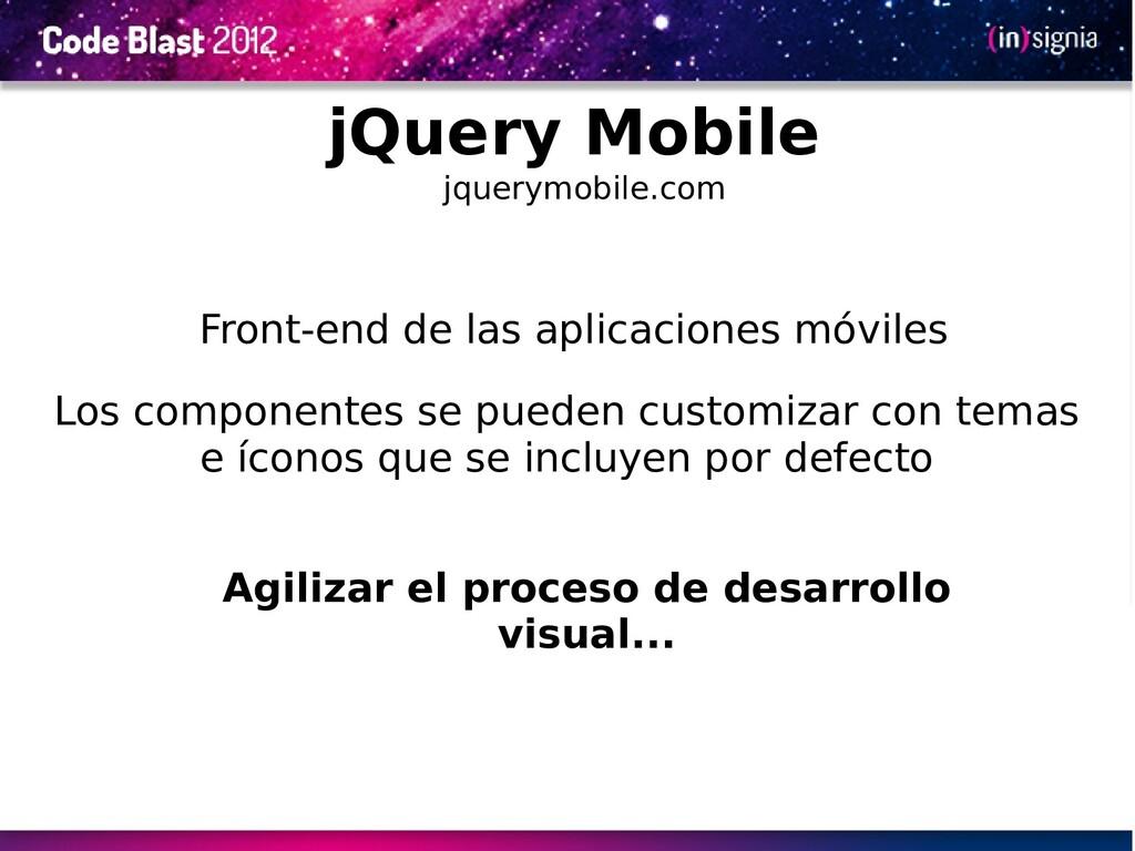 Front-end de las aplicaciones móviles Agilizar ...