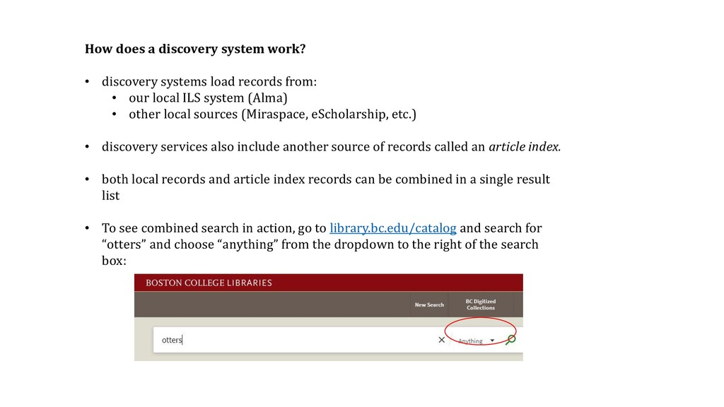 How does a discovery system work? • discovery s...