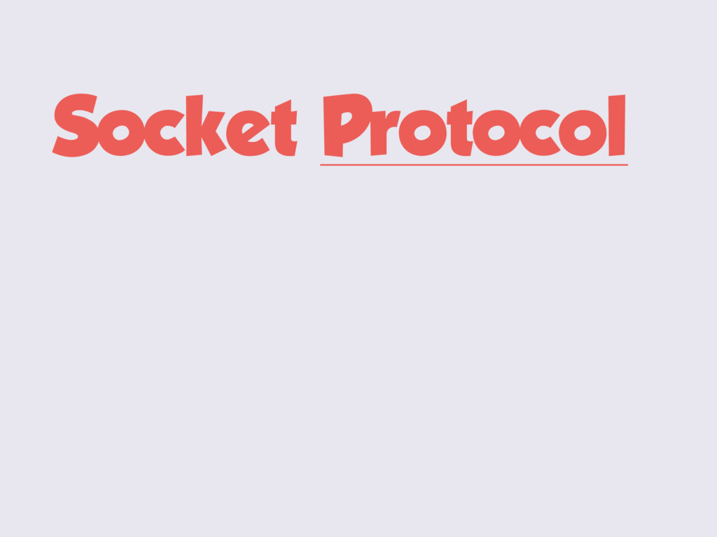 Socket Protocol