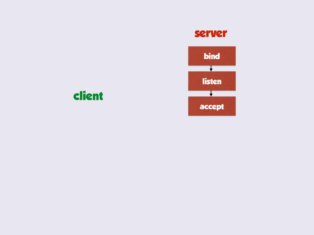 bind listen accept server client