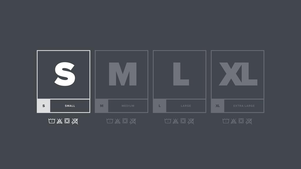 L LARGE L XL EXTRA LARGE XL M MEDIUM M S SMALL S