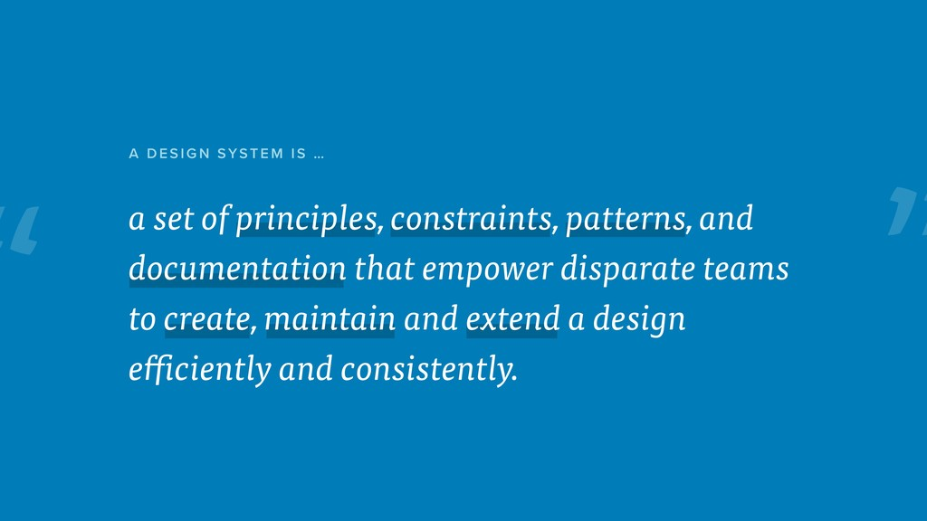 """ a set of principles, constraints, patterns, a..."