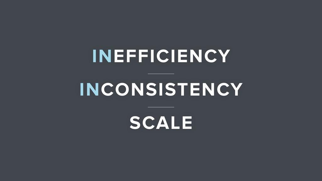 INEFFICIENCY INCONSISTENCY SCALE