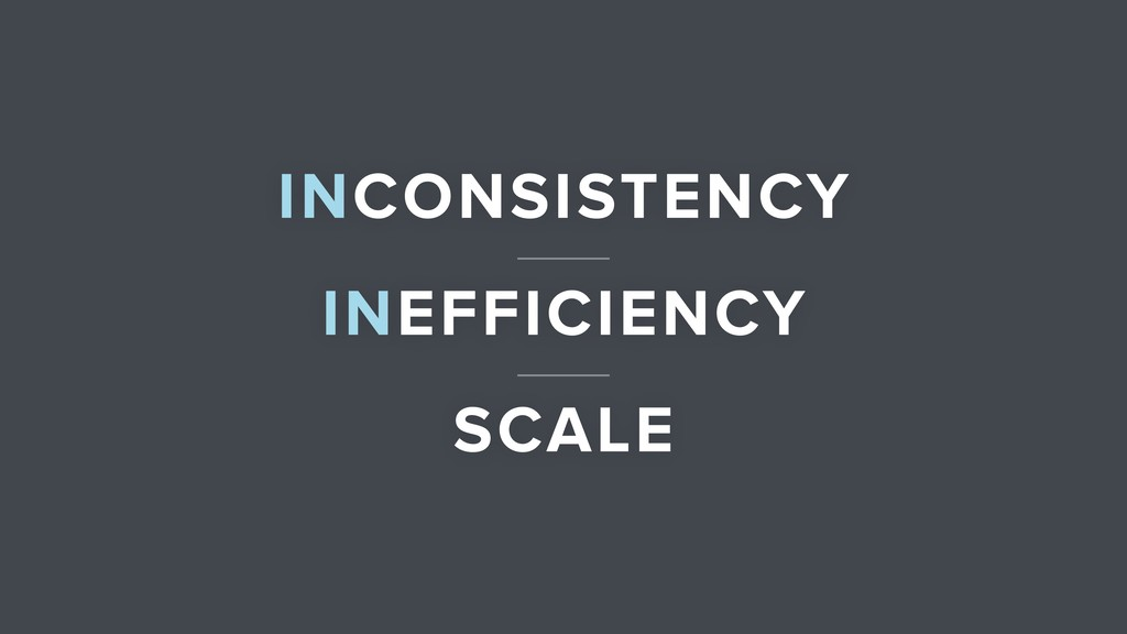 INEFFICIENCY INCONSISTENCY SCALE