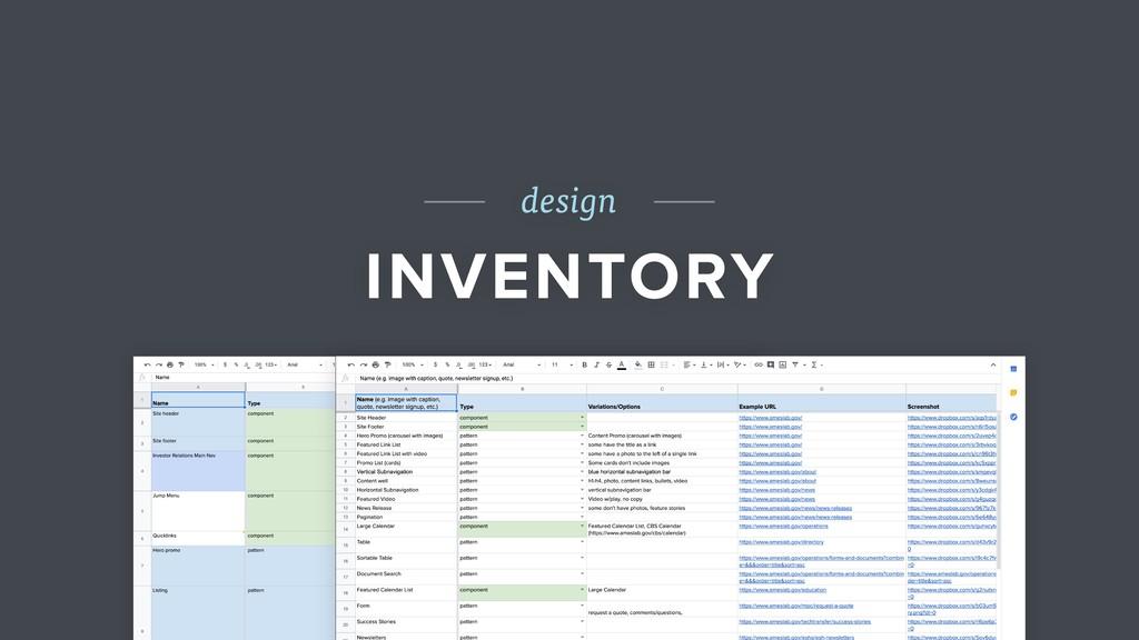 design INVENTORY