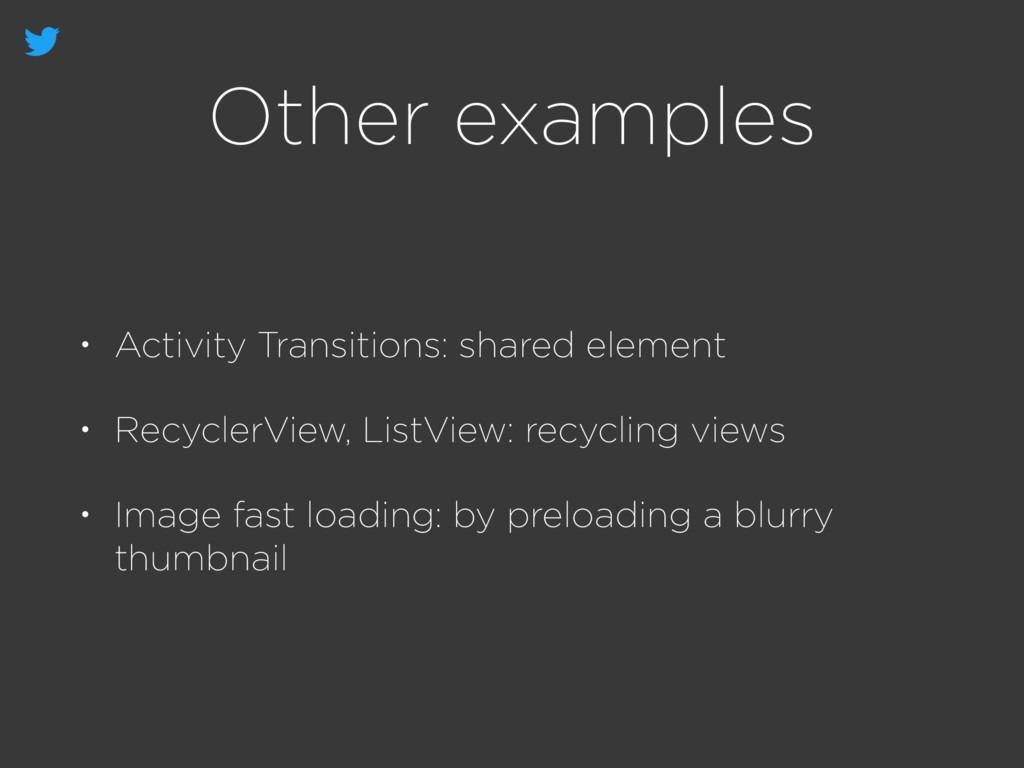 Other examples • Activity Transitions: shared e...
