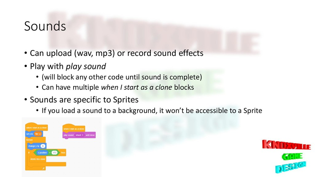 Sounds • Can upload (wav, mp3) or record sound ...