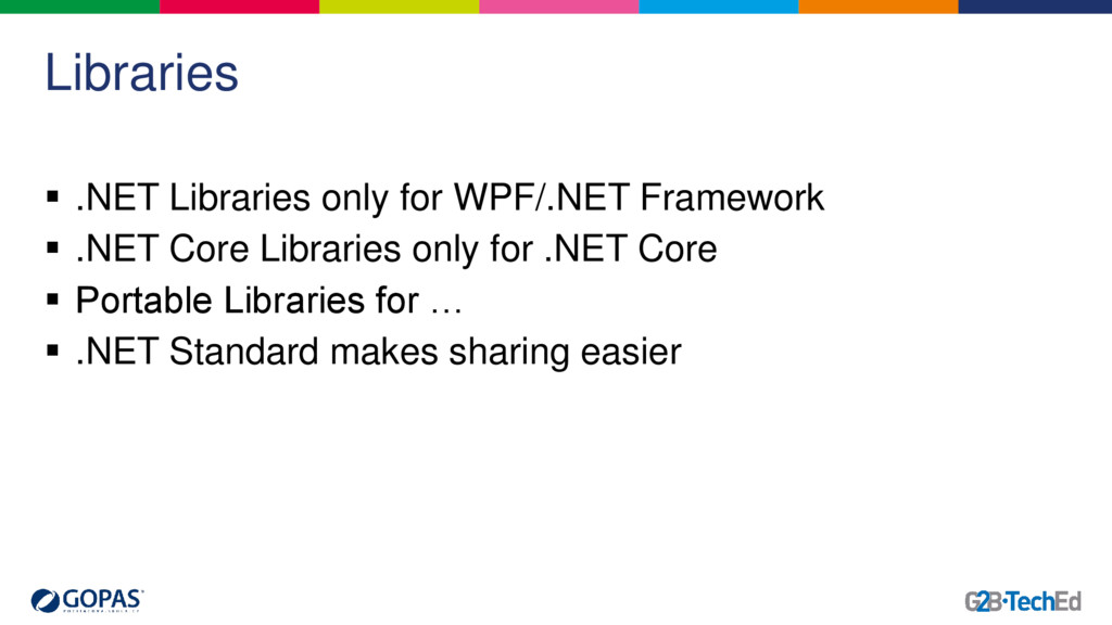 Libraries  .NET Libraries only for WPF/.NET Fr...