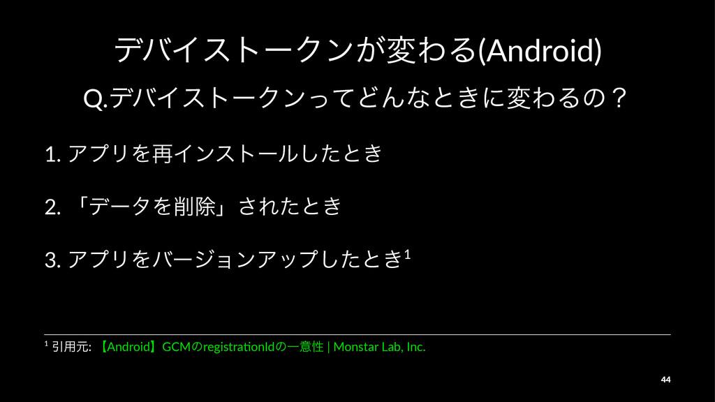 σόΠετʔΫϯ͕มΘΔ(Android) Q.σόΠετʔΫϯͬͯͲΜͳͱ͖ʹมΘΔͷʁ 1...