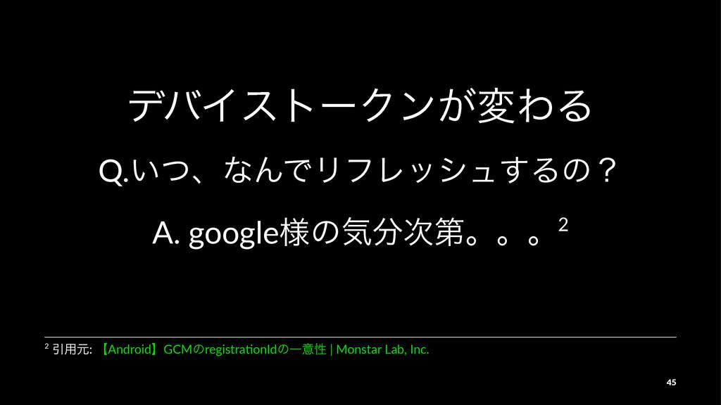 σόΠετʔΫϯ͕มΘΔ Q.͍ͭɺͳΜͰϦϑϨογϡ͢Δͷʁ A.#google༷ͷؾୈ...