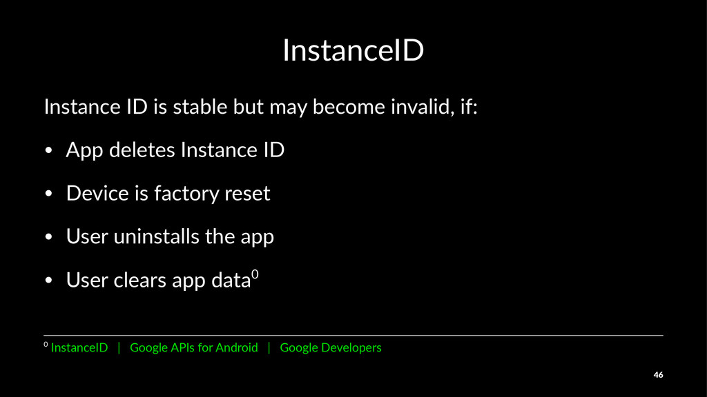 InstanceID Instance(ID(is(stable(but(may(become...