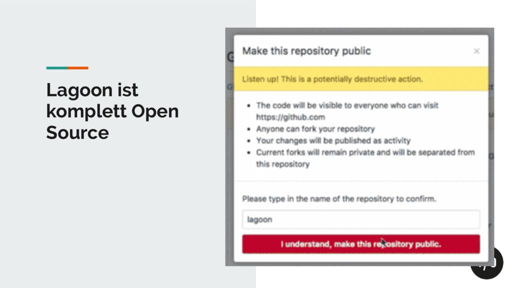 Lagoon ist komplett Open Source