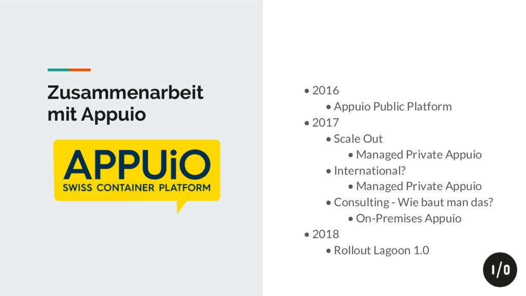 Zusammenarbeit mit Appuio • 2016 • Appuio Publi...