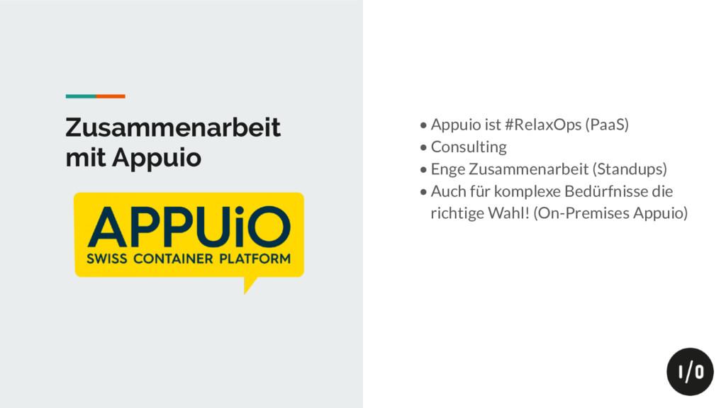 Zusammenarbeit mit Appuio • Appuio ist #RelaxOp...