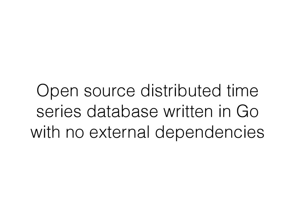 Open source distributed time series database wr...