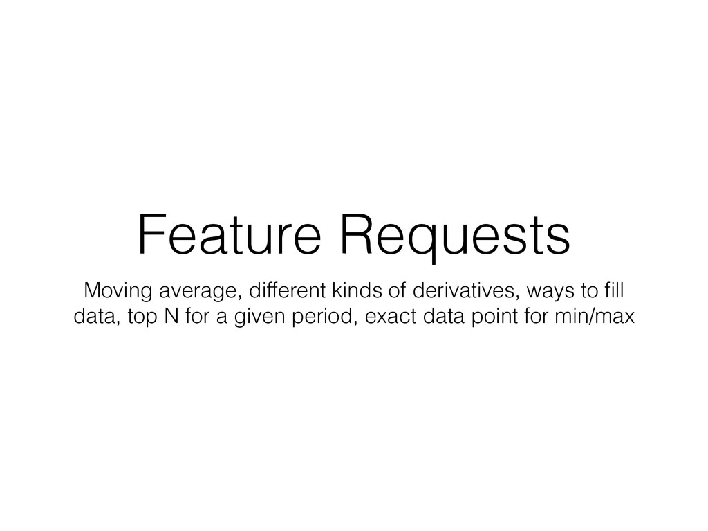 Feature Requests Moving average, different kind...