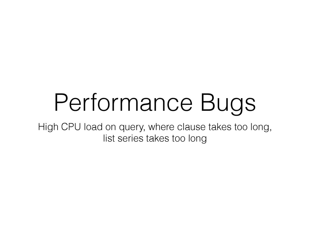 Performance Bugs High CPU load on query, where ...