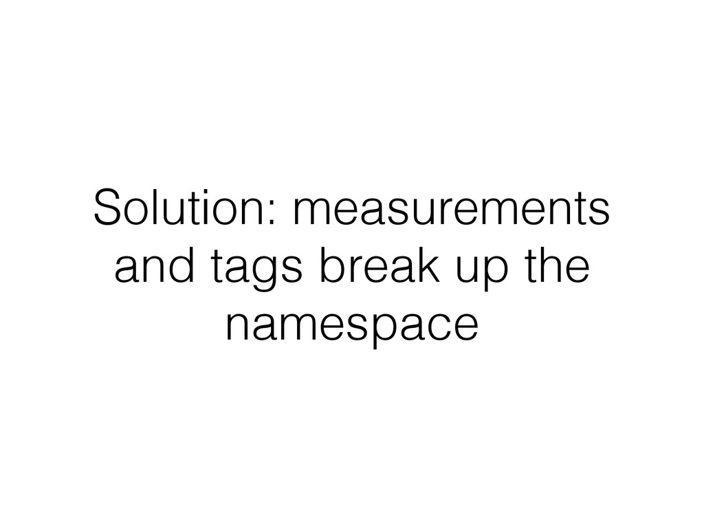 Solution: measurements and tags break up the na...