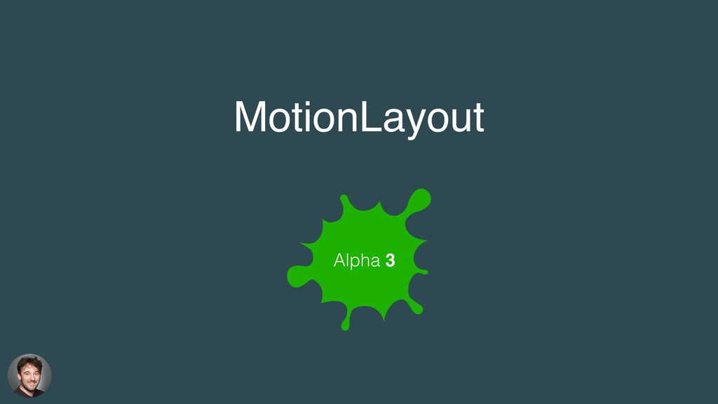 Alpha 3 MotionLayout