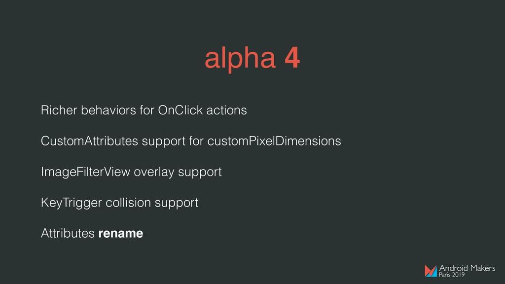 alpha 4 Richer behaviors for OnClick actions Cu...
