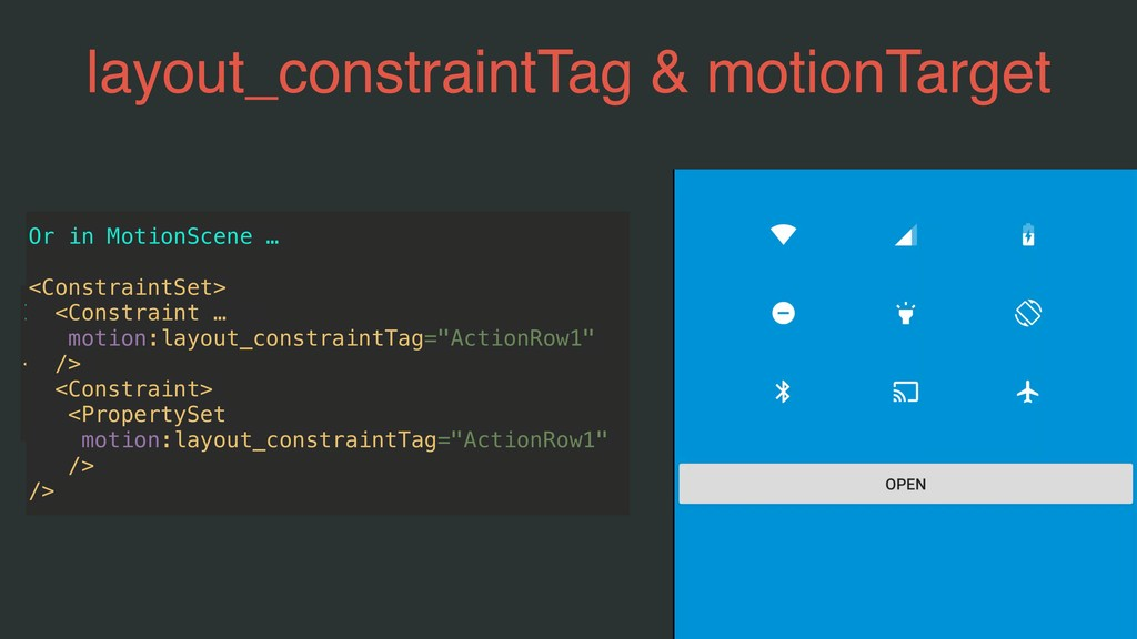 layout_constraintTag & motionTarget In Layout… ...