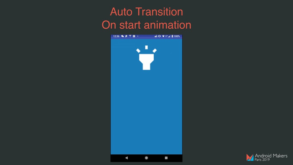 Auto Transition On start animation