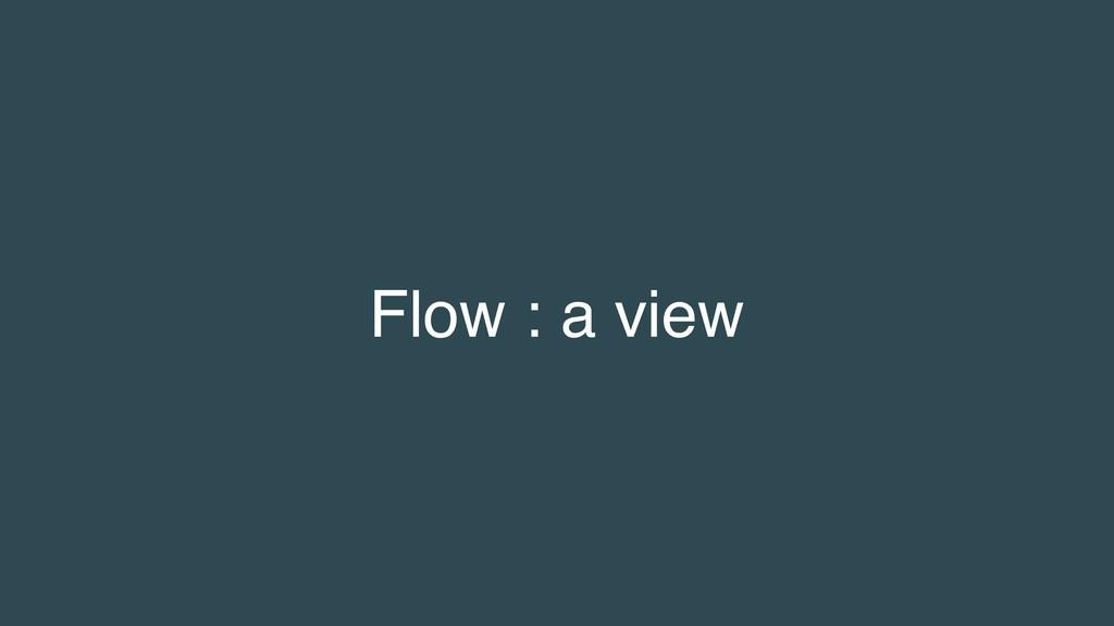 Flow : a view