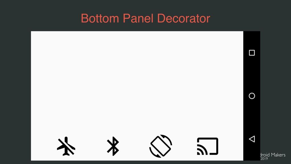 Bottom Panel Decorator