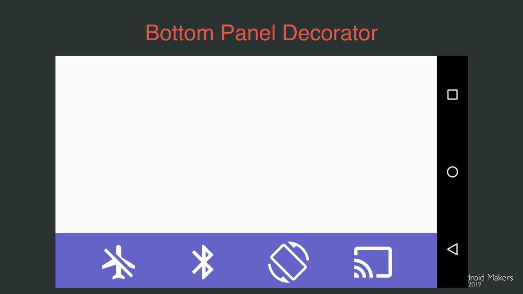 Bottom Panel Decorator