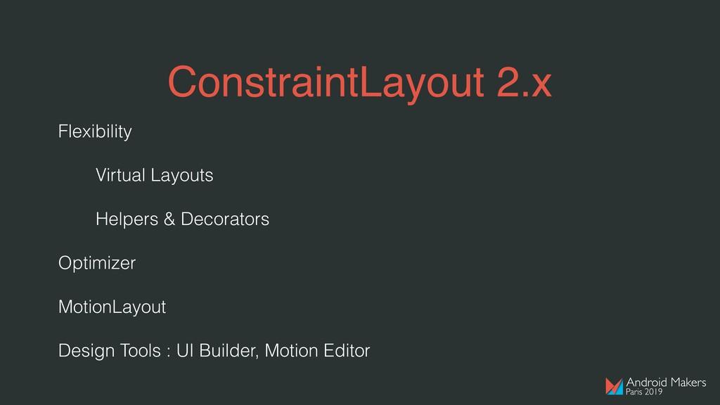 ConstraintLayout 2.x Flexibility Virtual Layout...