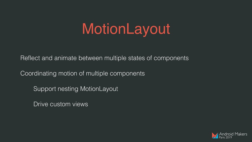 MotionLayout Reflect and animate between multipl...