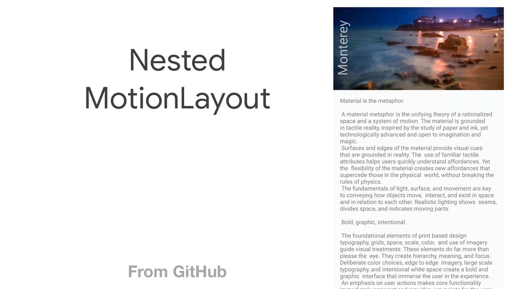 From GitHub Nested   MotionLayout