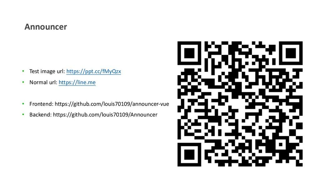 Announcer • Test image url: https://ppt.cc/fMyQ...