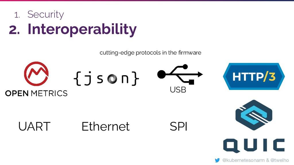 1. Security 2. Interoperability SPI Ethernet UA...