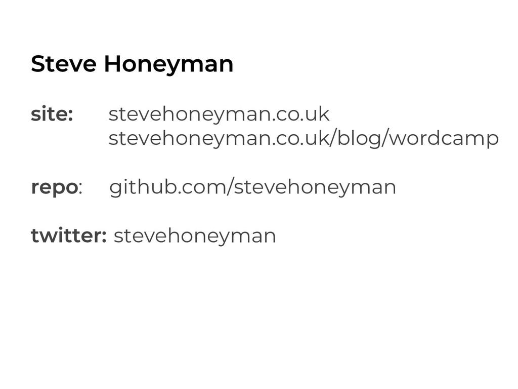 stevehoneyman.co.uk stevehoneyman.co.uk/blog/wo...