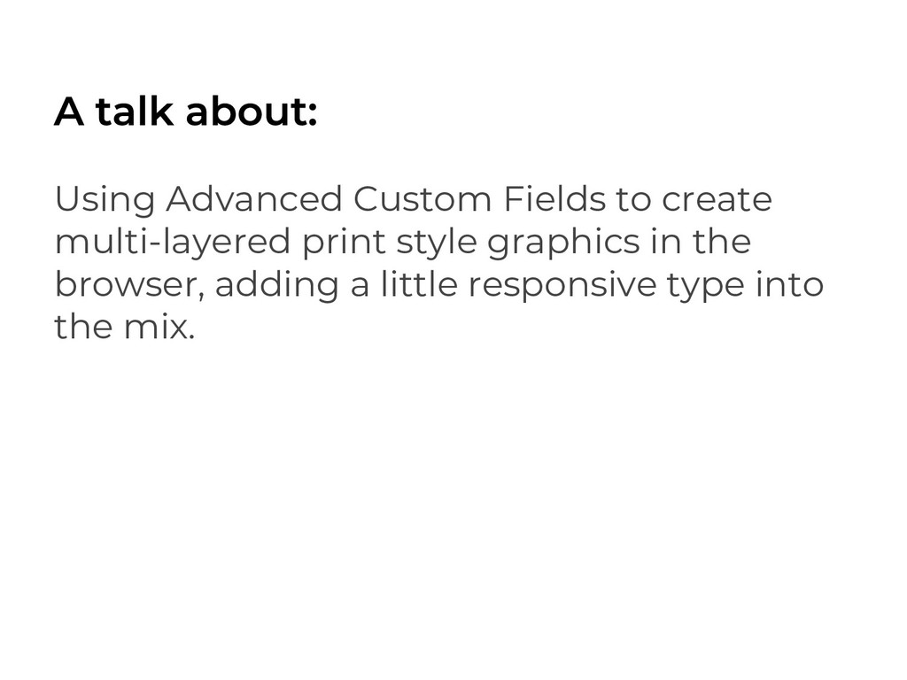 Using Advanced Custom Fields to create multi-la...