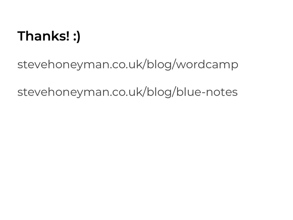 stevehoneyman.co.uk/blog/wordcamp stevehoneyman...