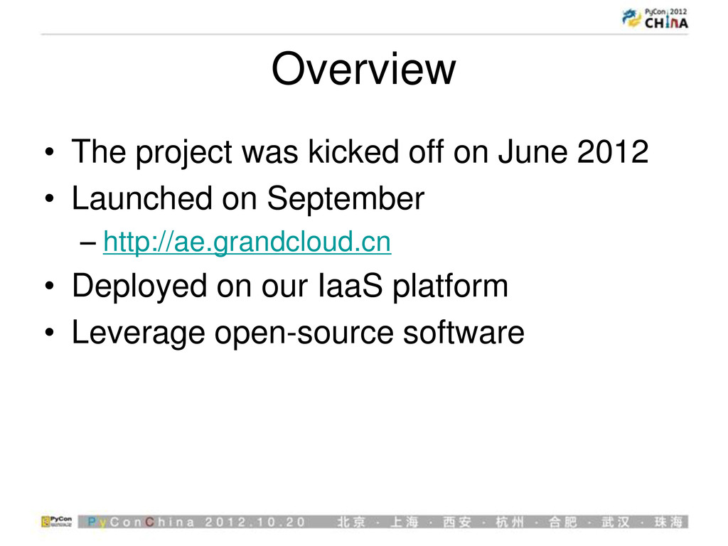 Overview • The project was kicked off on June 2...
