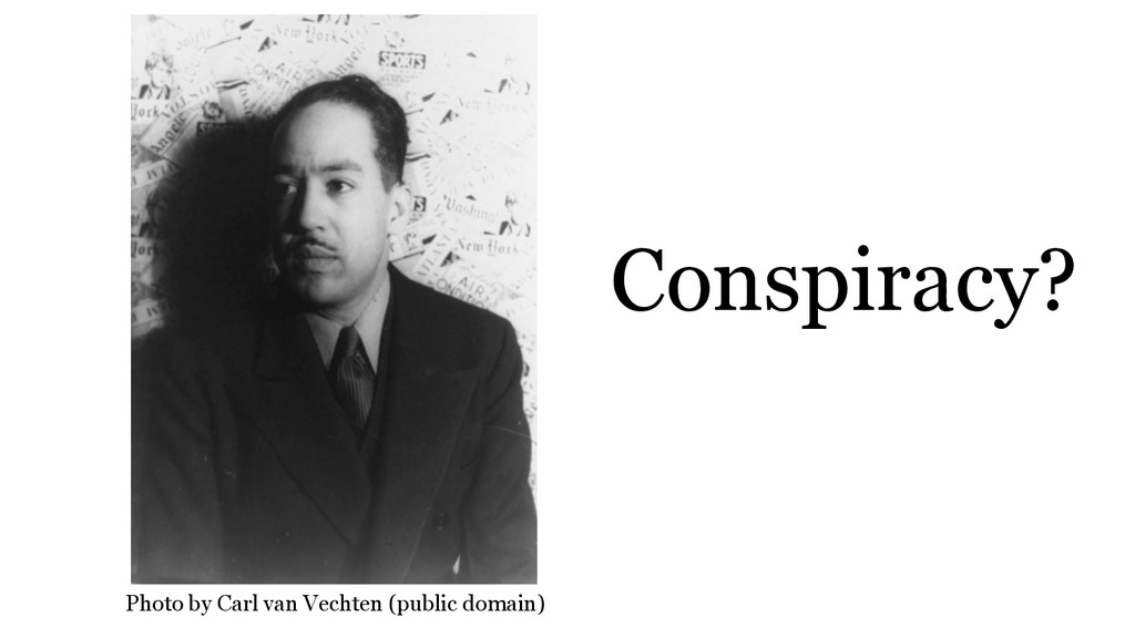 Conspiracy? Photo by Carl van Vechten (public d...