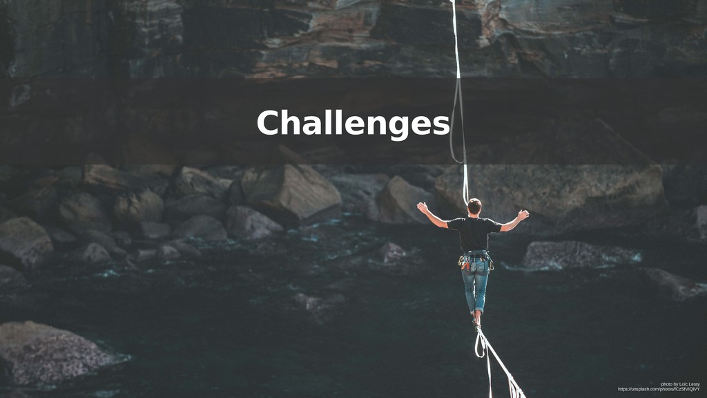 Challenges photo by Loic Leray https://unsplash...
