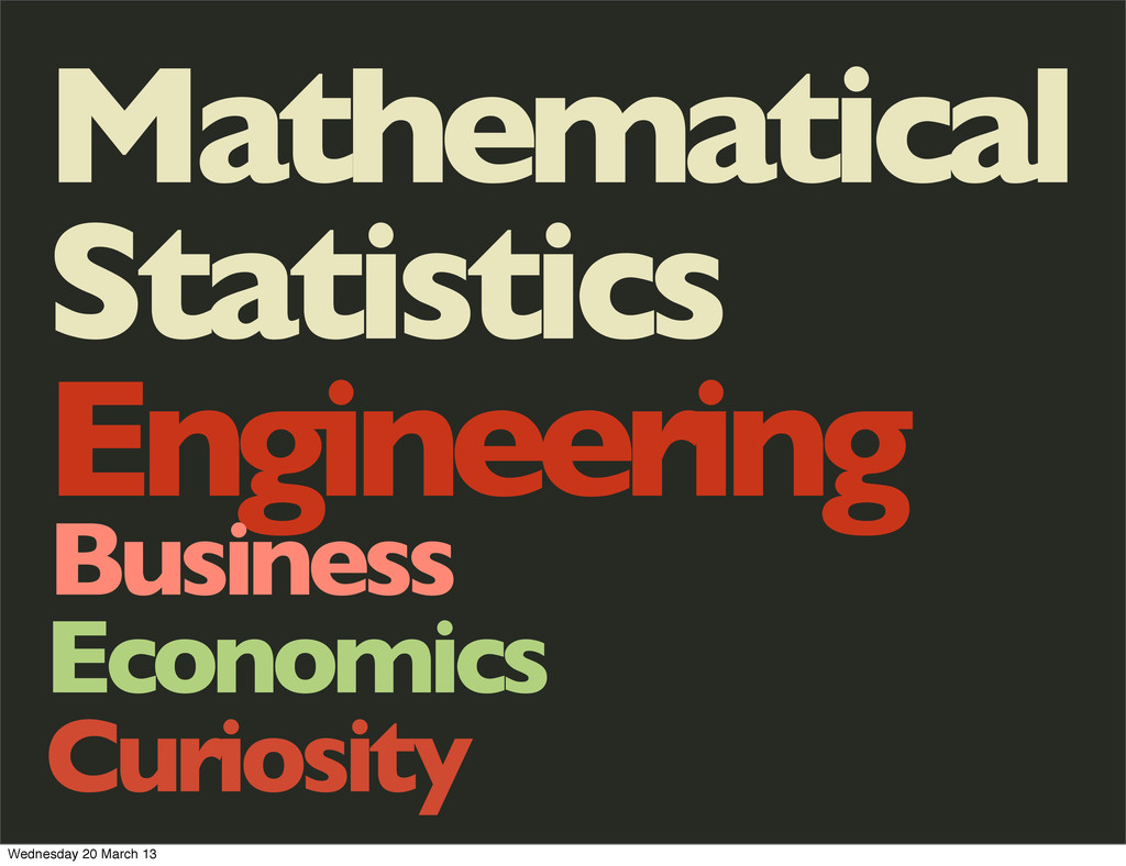 Mathematical Statistics Engineering Business Ec...