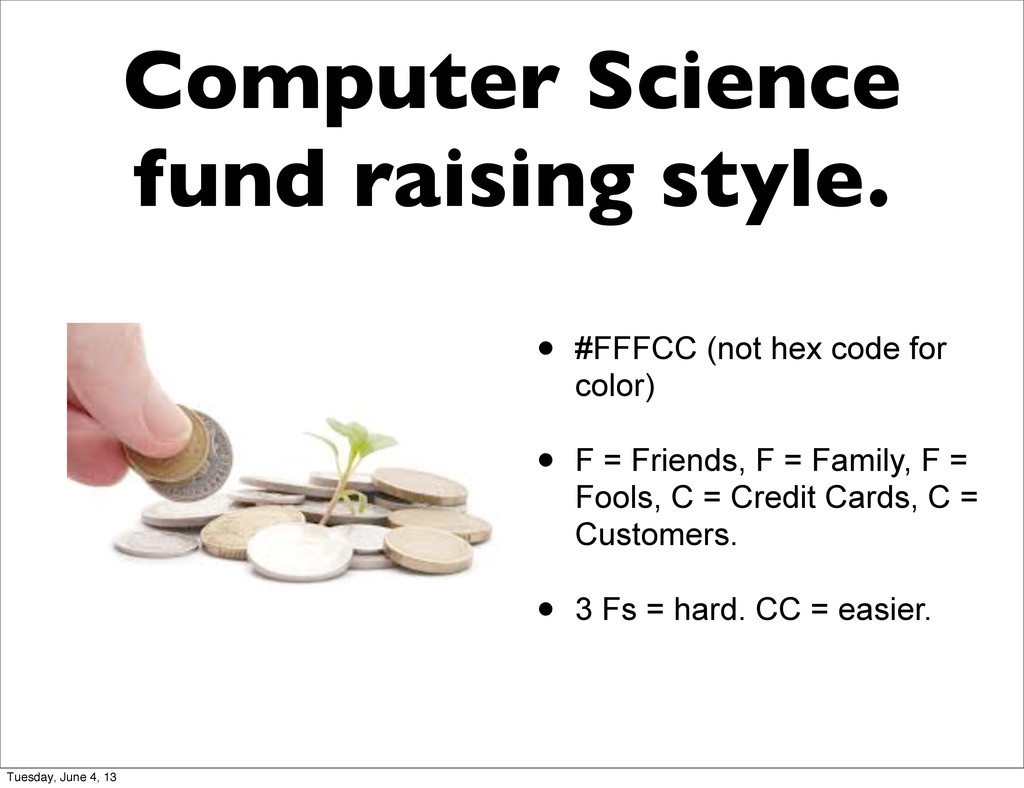 Computer Science fund raising style. • #FFFCC (...