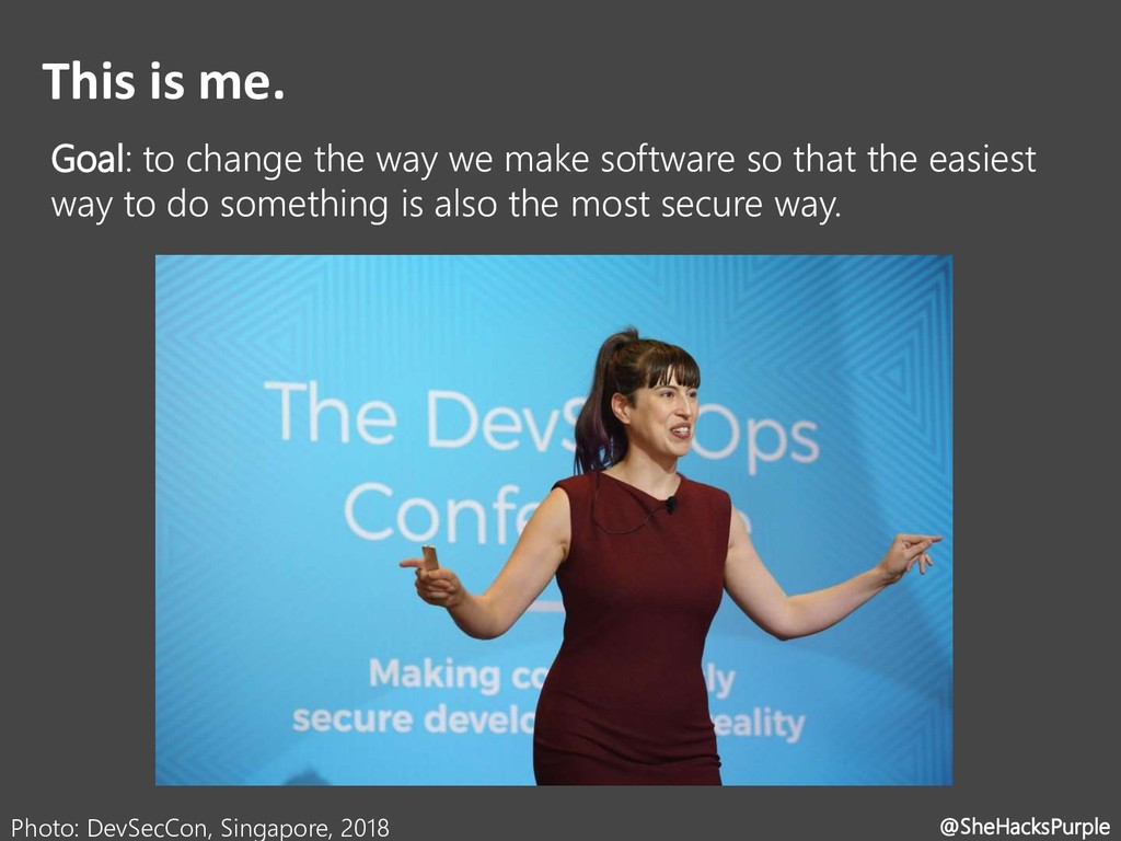 This is me. Goal: to change the way we make sof...